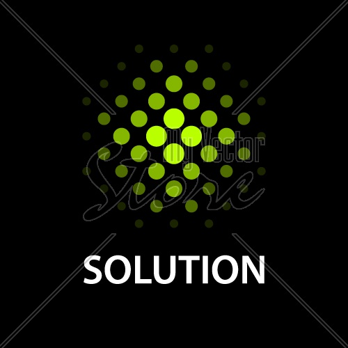 abstract dotted sphere icon solution symbol