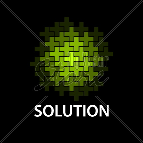 abstract cross sphere icon solution symbol