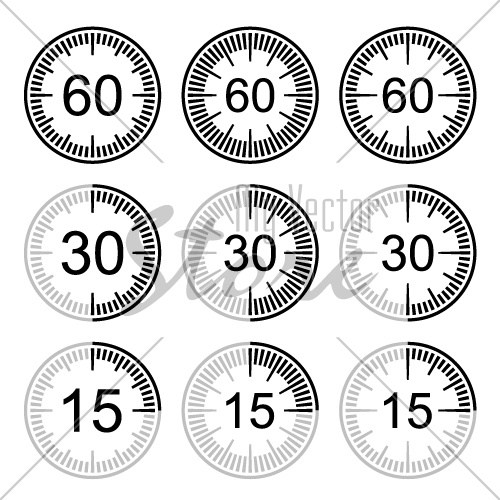 clock face stopwatch black symbol vector
