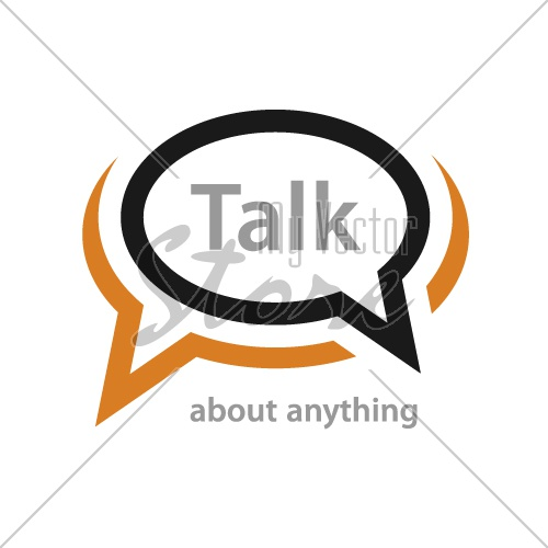 speech bubble talk icon vector