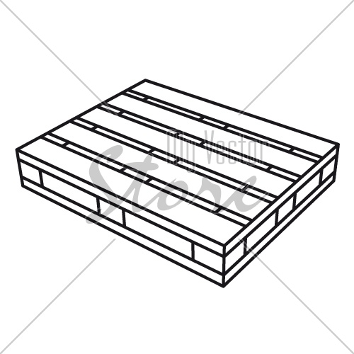 wooden pallet black symbol vector