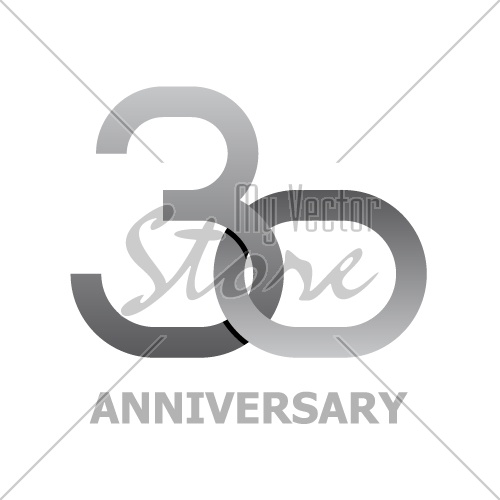 30 years anniversary symbol vector