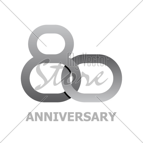 80 years anniversary symbol vector