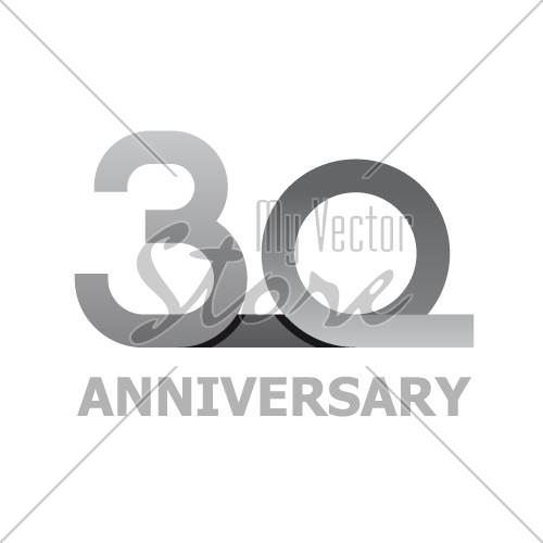 30 years anniversary number vector