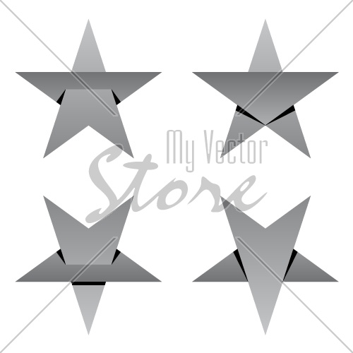 grey paper star overlay vector