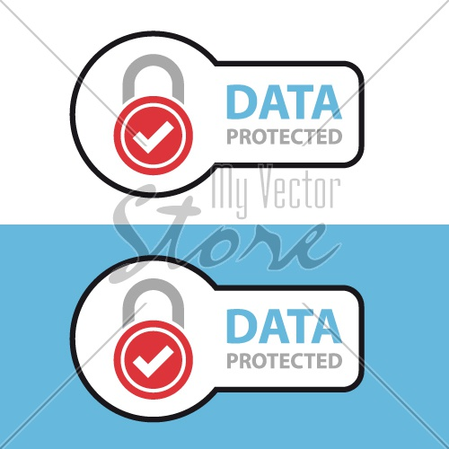 data protected safety icon symbol vector