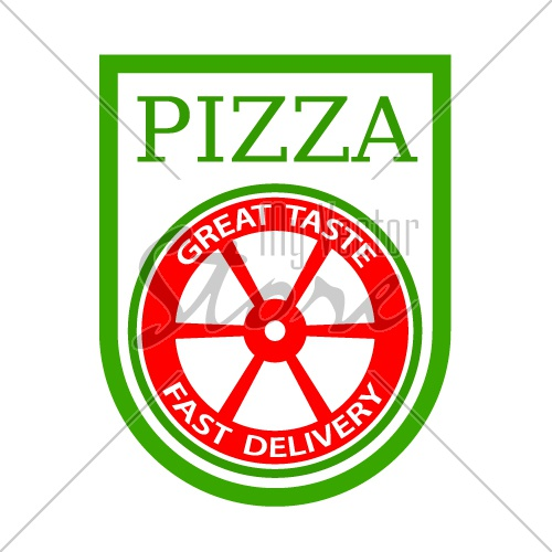 traditional italian pizza emblem vector
