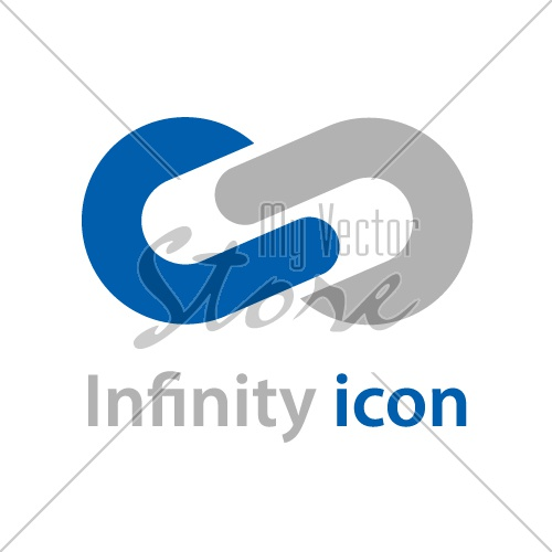 abstract infinity eight emblem vector