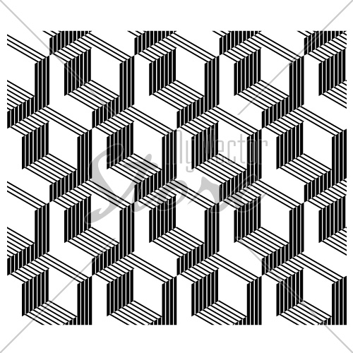 3D architectural corners seamless line background vector