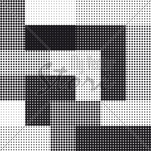 halftone seamless square background vector