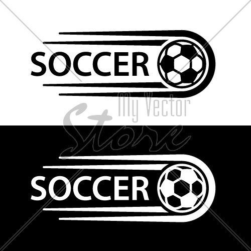 soccer ball motion line symbol vector