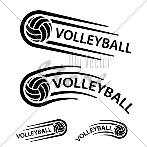 volleyball ball motion line symbol vector