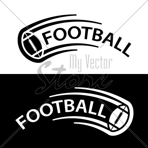american football ball motion line symbol vector