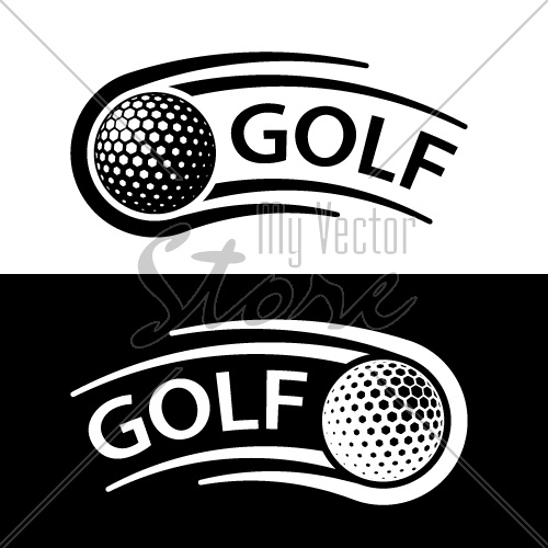 golf ball motion line symbol vector