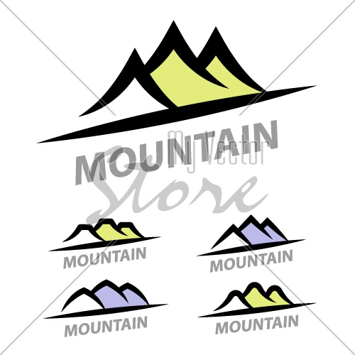 mountain hill simple symbol vector