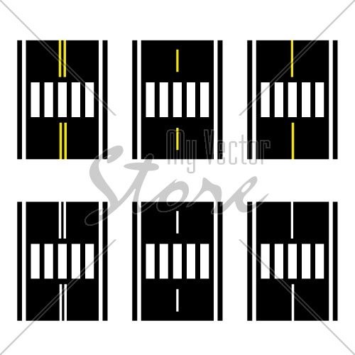 crosswalk on the road simple symbol vector