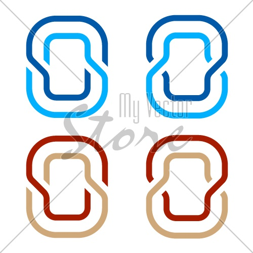 letter O number 0 zero icon symbol vector