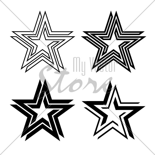 black star symbol infinite loop vector