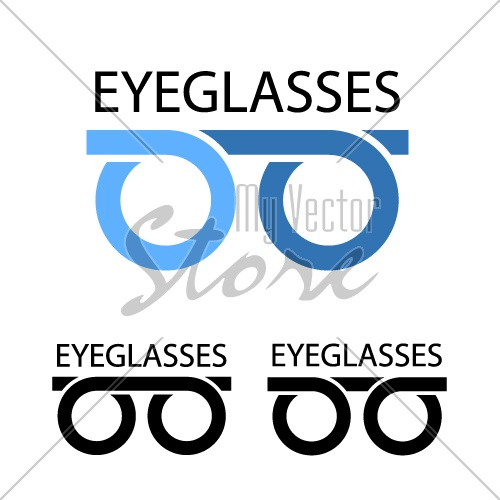eyeglasses simple symbol vector
