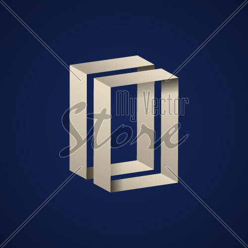 abstract paper open door vector