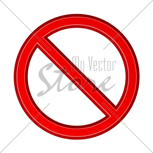 red blank ban sign vector