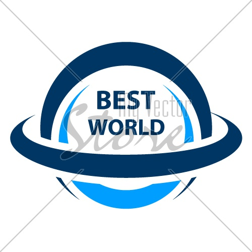 best world globe icon vector
