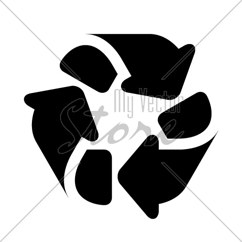 recycle black simple symbol vector