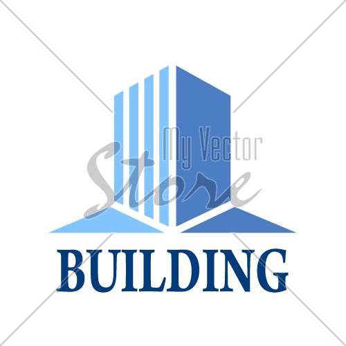 abstract building minimal simple symbol vector