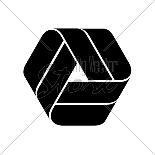 endless ribbon black symbol vector