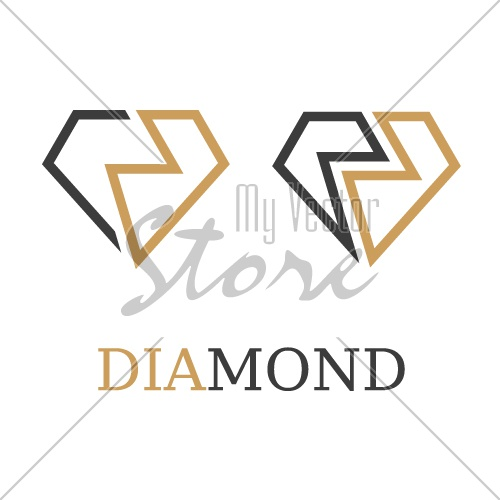 diamond simple symbol vector