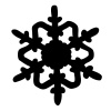 vector Snowflake silhouette