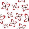 vector red butterflies seamless