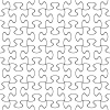 vector transparent seamless puzzle