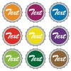 vector set of bottle caps