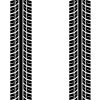 vector seamless trace of the tyres