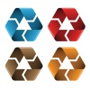 vector colored recycle icons