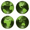 vector glossy globes