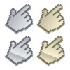 vector 3d metallic cursors