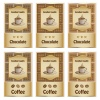 vector coffee and chocolate labels