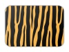 vector card with tiger pattern