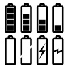 vector symbols of battery level
