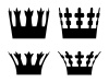 vector crown symbols