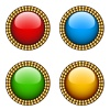 Vector vintage glossy buttons