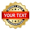 vector money back guaranteed label