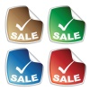 vector sale colored stickers