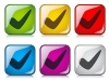 vector positive checkmark buttons