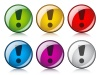 vector exclamation mark buttons