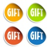 vector gift sign stickers