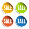 vector sale sign stickers