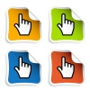 vector smooth cursor hand stickers